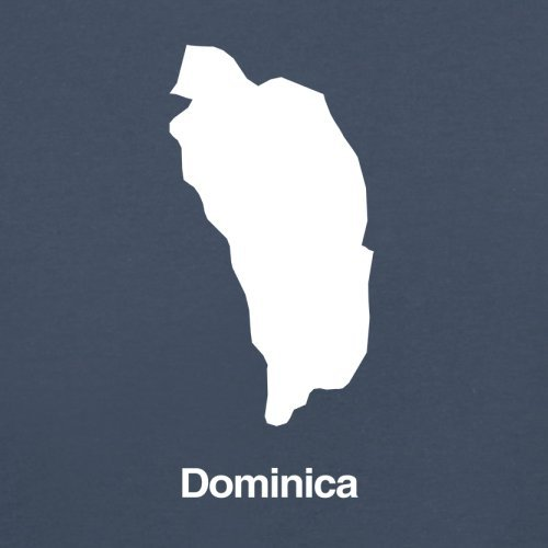 Dominica Silhouette - Herren T-Shirt - Navy - XXL