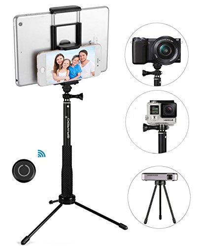 Grando Selfie Stick 2 In 1 Clip Extendable Monopod With