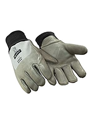 RefrigiWear Insulated Nitrile Dipped Deerskin Gloves
