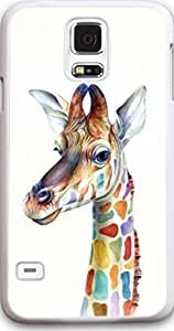 ka ka case Galaxy S5 Case, Ultra Slim for Samsung Galaxy S5 Perfect Fit Anti Slippery Best for Your Beautiful Samsung Painted Giraffe cartoon