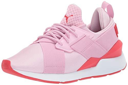 PUMA Unisex Kid's Muse Sneaker, Pale Pink-Hibiscus, 11.5 M US Little Kid