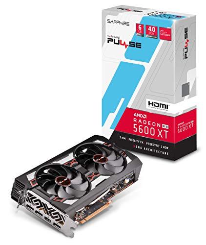 SAPPHIRE 11296-01-20G Radeon Pulse RX 5600 XT 14GBPS 6GB GDDR6 HDMI / Triple DP OC w/ Backplate (UEFI) PCIe 4.0 Graphics…