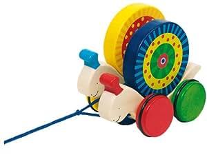 Goki 54970 - Caracol doble con ruedas para arrastrar