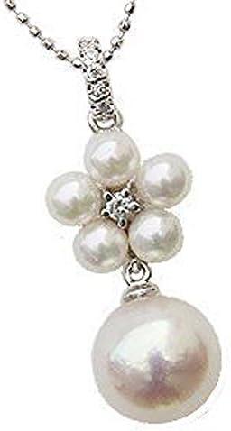 ペンダントトップ パール ペンダントヘッド wg ゴールド 真珠ペンダントチャームペンダント あこや真珠パール ホワイトゴールド ネックレス ダイヤモンド