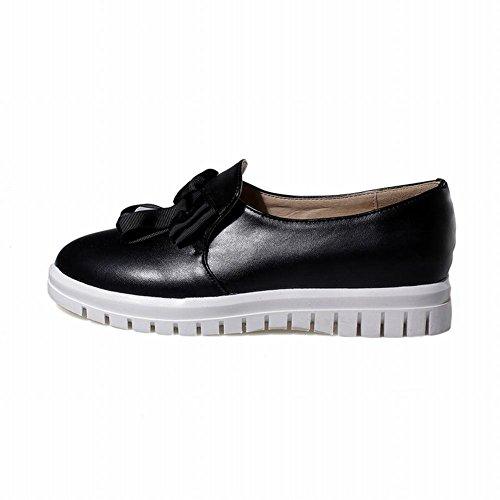 Spectacle Briller Mode Féminine Mignonne Arc Mocassin Flats Chaussures Noir