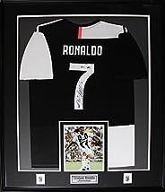 Cristiano Ronaldo Juventus Italy Serie A Signed Soccer Jersey Sports Memorabilia Collector Frame