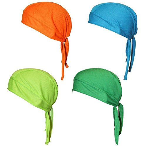 fc6ae758814 Quick Dry Sweat Wicking Beanie Cap Adjustable Cycling Cap Hat Skull Cap  Chemo Head Wrap Bandana For Men Women Helmet Liner Pack of 4 - Buy Online  in Oman.