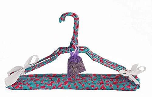 Perchas de ropa acolchadas y forradas con tela decoración sandías, incluye bolsa de lavanda.