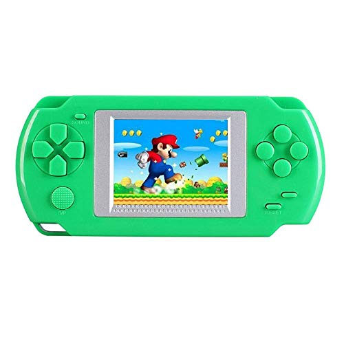 KOBWA Handheld Game Console for Children, Built in 268 Classic Old Games Portable Game Console, The 80's Arcade Video Gaming System (Green)