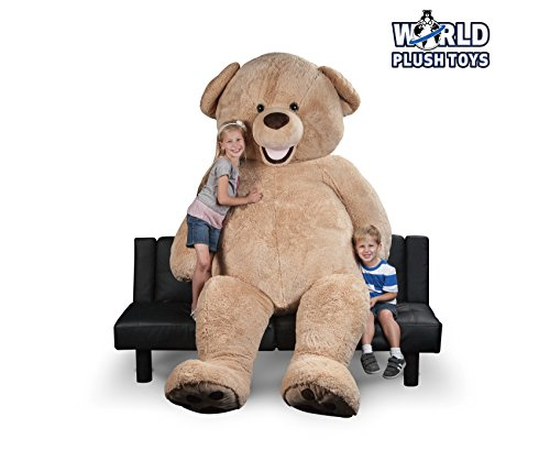 "WORLD PLUSH TOYS 94"" GIANT TEDDY BEAR STUFFED ANIMAL"