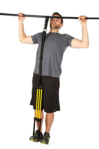 Heavy-Duty-Pull-upChin-Up-Assist-Bands--90-lbs-Weight-Assist-P90X-Fully-Adjustable-Choose-Your-Resistance-Quickly-For-Complete-Personal-Training-Fitness-Workout-of-Arms-Shoulders