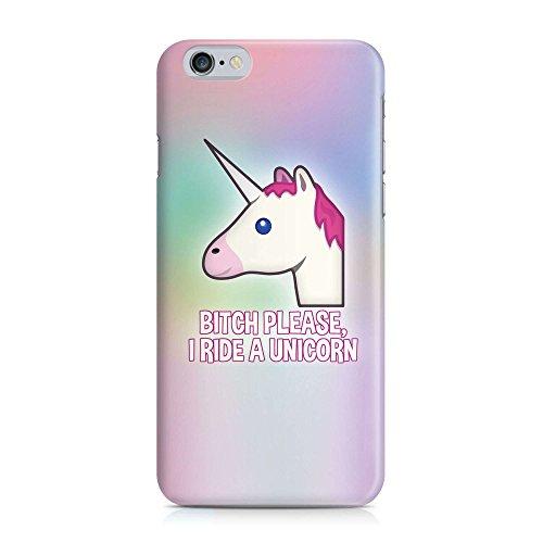 Cover BITCH PLEASE Einhorn Unicorn Regenbogen rainbow Handy Hülle Case 3D-Druck Top-Qualität kratzfest Apple iPhone 6 / 6S