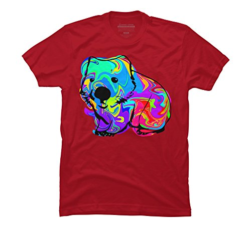 Wombat Men's 2X-Large Cardinal Graphic T Shirt - Design By Humans