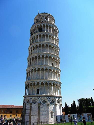 Home Comforts Peel-n-Stick Poster of Leaning Tower Tuscany Building Pisa Italy City Vivid Imagery Poster 24 x 16 Adhesive Sticker Poster Print