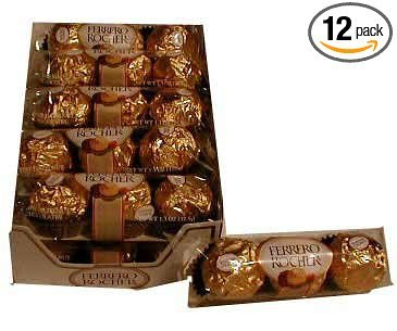 Rocher Ferrero Diamond (Ferrero Rocher 3 Pack, Case of 12)