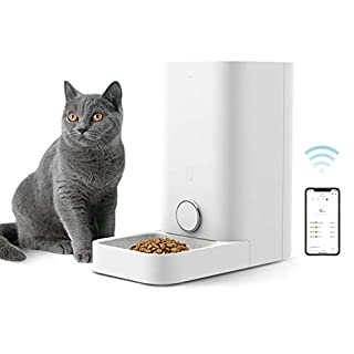 PETKIT Automatic Cat Feeder, Wi-Fi Enabled Smart Feed Pet Feeder for Cats and Small Dogs, App Control, Work with Alexa, Portion Control, Distribution Alarms, Fresh Lock System Auto Cat Food Dispenser
