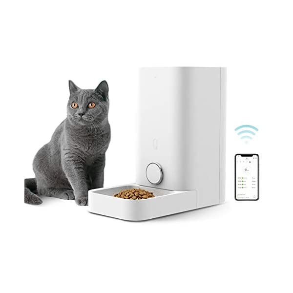 PETKIT Automatic Cat Puppy Feeder, App Control, 10 Portions,10 Meal Plans per Day, Low Food LED Indicator Pet Smart… 1