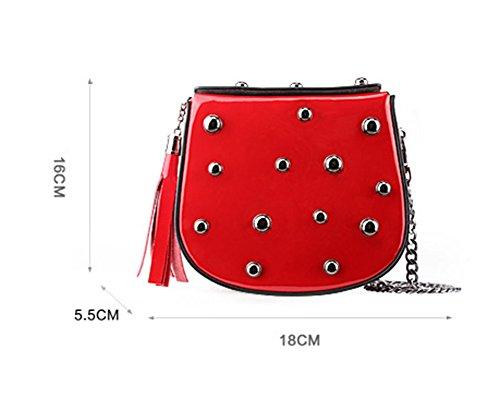 Moda Las Mano Multicolores Señoras De Hechos Mensajero Hombro Bao A Pink Bolsas Bolsos Red Wine nqvEHcwHP0