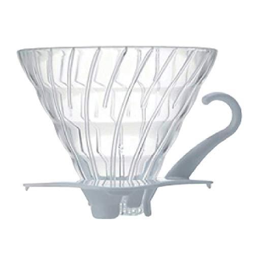 Hario V60 Glass Coffee Dripper, Size 02, White