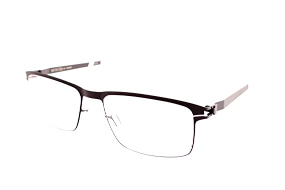 Amazon.com: Eyewear Mykita DENNIS 158 Grey Silver Cuadrado ...