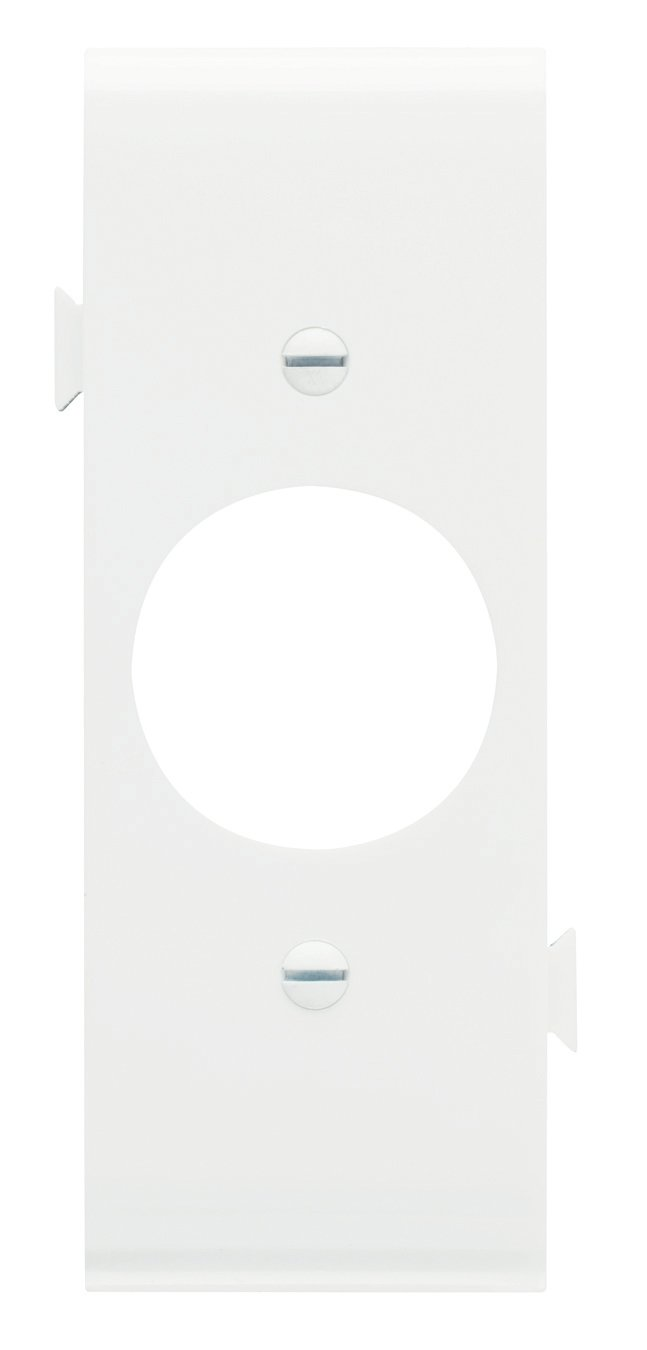White Legrand-Pass /& Seymour PJSC7WCC10 Sectional Thermoplastic Wall Plate Junior Jumbo Single Receptacle Center Section