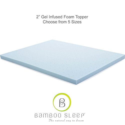 """Price comparison product image Bamboo Sleep 2"""" Gel Infused Aerated Foam Mattress Topper (King)"""