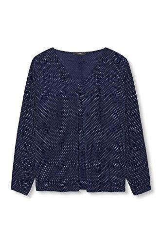 ESPRIT Collection softe Qualität-Blusa Mujer Azul (Navy 400)