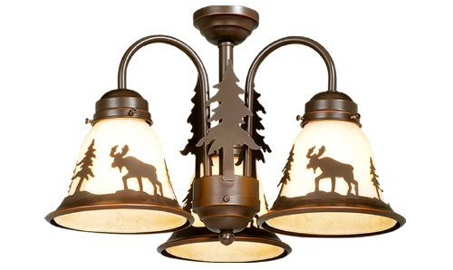Vaxcel LK55616BBZ-C Yellowstone 3L Light Kit, Burnished Bronze, Brown by Vaxcel ()