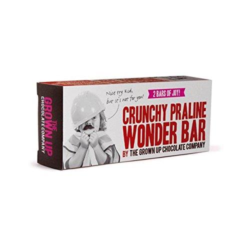 Grown Up Chocolate Crunchy Praline Wonder Bar 70g Amazonco
