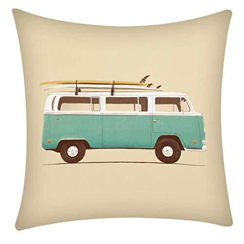(QBQCBB Pillow Case Polyester Fiber Cushion Sofa Car Cushion Cover Home Decoration 45x48cm(C))