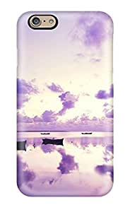 8163759K96238613 Tpu Phone Case With Fashionable Look For Iphone 6 - Purple Sunset In Ocean