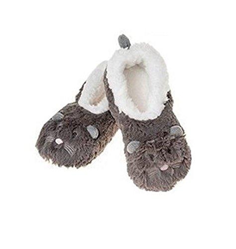 Snoozies Kinder-Fleece-Hausschuhe, Tier-Design Maus