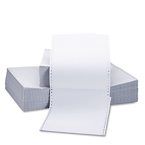 Universal Two-Part Carbonless Paper, 15Lb, 9-1/2 X 11, Perforated, White, 1650 ()