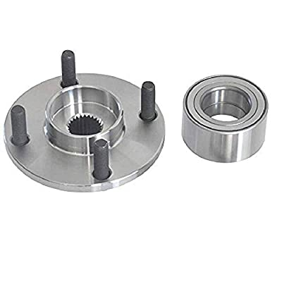 DRIVESTAR 518510 Pair Front Wheel Hub and Bearing Assembly for 00-11 Ford Focus: Automotive