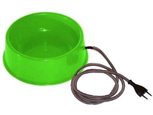 Beheizbarer Futternapf, Wassernapf 1,5 l, mit Bissschutz, PVC grün, beheizbarer Wassernapf