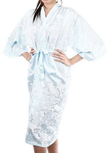 Lofbaz Mujer Bata de baño que cubre como una toalla, cómoda Design #9 Azul claro