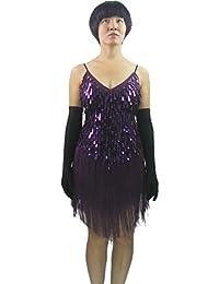 Sexy Tassel Sequin 1920s Great Gatsby Flapper Girls Dance Dress Costume
