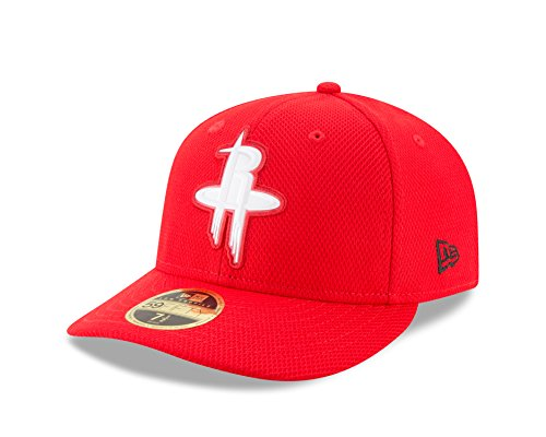 NBA Houston Rockets Adult Bevel Team Low Profile 59FIFTY Fitted Cap, 7 3/4, Scarlet
