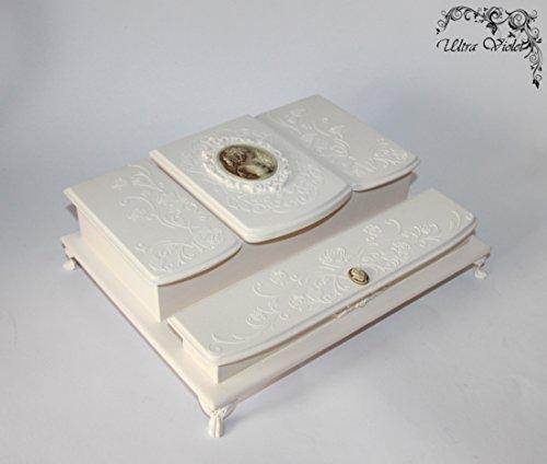 Schreibtisch Organizer , Schreibzeug Aufbewahrung, Visitenkartenbox,Holzbox, Bürobedarf, Büromöbel