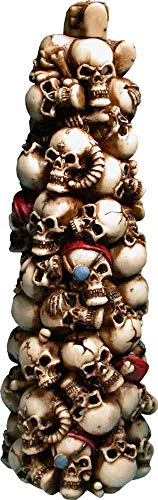 Nose Desserts Stack Human Skulls Smoking Incense Tower, Stick and Cone Burner Ashcatcher Air Freshener Brand
