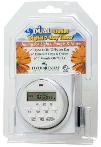 41lulZNsNSL - Autopilot TM01715D Dual Outlet 7-Day Grounded Digital Programmable Timer, 1725W, 15A, 1 Second On/Off