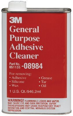 3M (08984) General Purpose Adhesive Cleaner, 08984, 1 Quart (US) [You are purchasing the Min order quantity which is 6 (General Purpose Adhesive Cleaner)