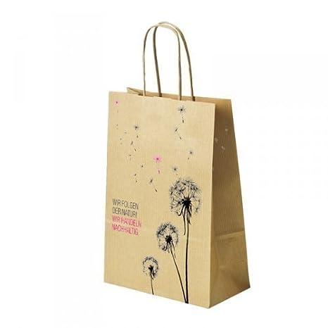 Bolsa de papel - Flor diente de león - con cordón de papel ...