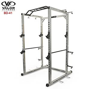 Valor Fitness BD-41 Heavy Duty Power Cage with Band Pegs and Multi-Grip Chin-Up …