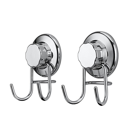 SANNO Shower Holder Hooks with Suction Cup Heavy - Cup Hook Stainless Steel