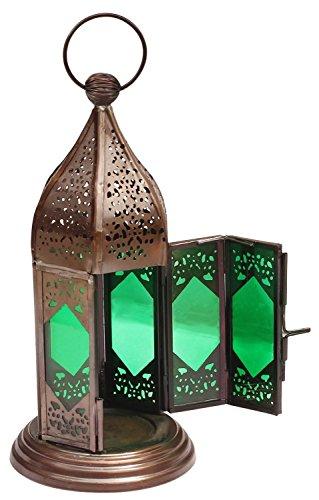 starzebra-mothers-day-gift-moroccan-lantern-9-inch-handmade-hanging-tea-light-holder-in-metal-emeral