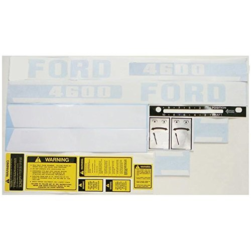 New Ford Tractor Complete Decal Kit 4600