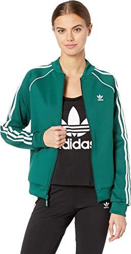 adidas Originals Women's Superstar Track Jacket Collegiate Green Small - Rib Bomber
