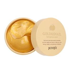 Petitfée - Gold & Snail Hydrogel Eye Patch - 60 x pads pour les yeux à base d'or et de bave d'escargot contre les rides et les cernes - Patchs pour les yeux à la bave d'escargot