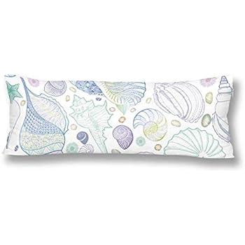 Amazon Com Ailovyo Beach Silky Shiny Satin Body Pillow